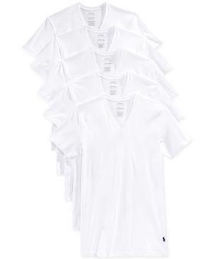 LAUREN RALPH LAUREN Polo Ralph Lauren 5-Pack Crewneck T-Shirts in White