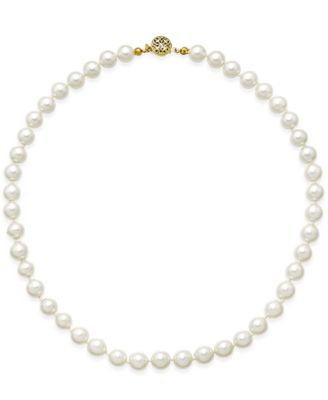 Image of Charter Club Gold-Tone Imitation Pearl Collar Necklace, Created for Macy's