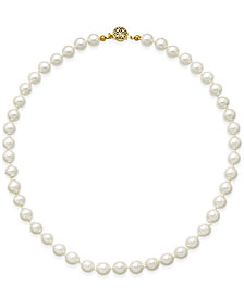 Charter Club Gold-Tone Imitation Pearl Collar Necklace, Created for Macy's