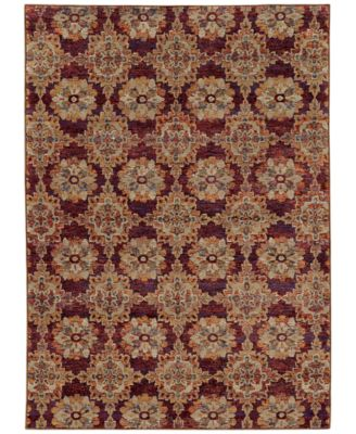 "Journey  Vella Red 8'6"" x 11'7"" Area Rug"