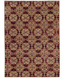 "Macy's Fine Rug Gallery Journey  Vella Red 6'7"" x 9'6"" Area Rug"