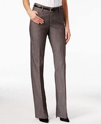 Lee Platinum Madelyn Straight-Leg Trousers - Pants - Women - Macy's