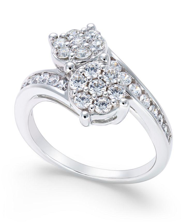 Macy's - Diamond Bypass Ring (1 ct. t.w.) in 14k White Gold