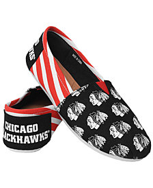 Forever Collectibles Women's Chicago Blackhawks Canvas Stripe Shoes