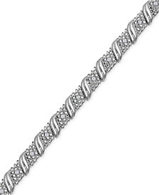 Diamond Diagonal Bracelet (1/4 ct. t.w.) in Sterling Silver