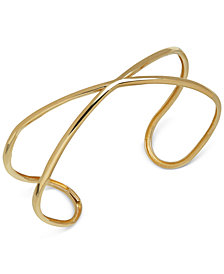 "Crisscross ""X"" Cuff Bracelet in 18k Gold"