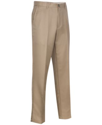 Image of Greg Norman for Tasso Elba Men's 5 Iron Flat Front Golf Pants
