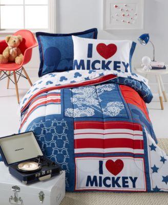 Mickey Americana Twin 5 Piece Comforter Set