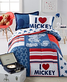 Mickey Americana Full 7 Piece Comforter Set