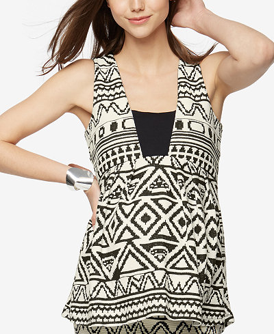 A Pea In The Pod Maternity Printed Sleeveless Top