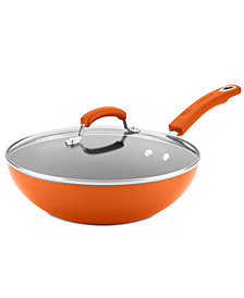 "Rachael Ray Hard Enamel 11"" Covered Stir Fry"
