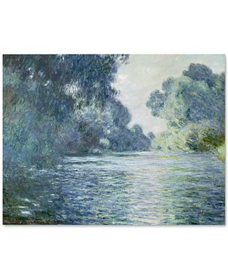'Branch of the Seine Near Giverny' by Claude Monet Canvas Print