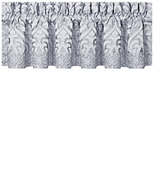 "CLOSEOUT! J Queen New York Harrison Chrome Straight 88"" x 14"" Window Valance"