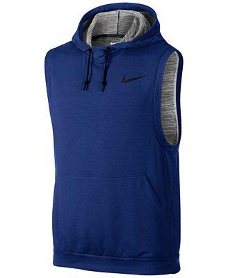 Nike Men's Dri-FIT Sleeveless Hoodie - T-Shirts - Men - Macy's