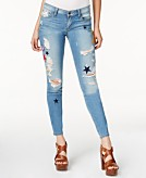 GUESS Ripped Voila Wash Skinny Jeans