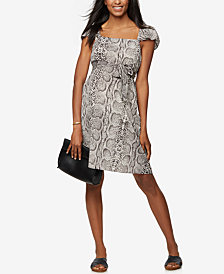 Rachel Zoe Maternity Animal-Print Dress