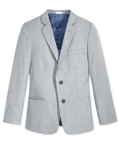 Calvin Klein Sharkskin Deco Suit Jacket, Big Boys Husky