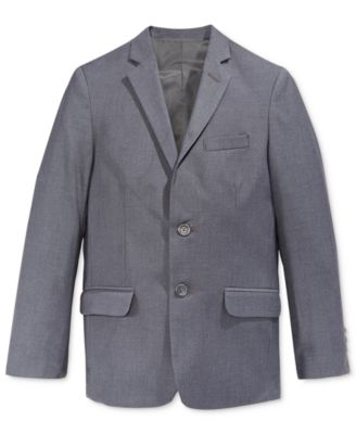 Fine Line Twill Suit Jacket, Big Boys Husky