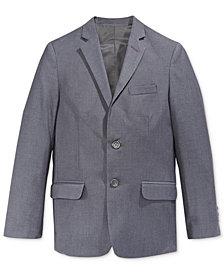 Calvin Klein Fine Line Twill Suit Jacket, Big Boys Husky