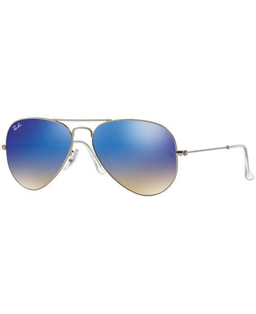 Ray-Ban ORIGINAL AVIATOR GRADIENT MIRRORED Sunglasses, RB3025 58