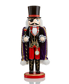 "Holiday Lane 14"" Wood Dosselmeyer Statue  Nutcracker Suite, Created for Macy's"
