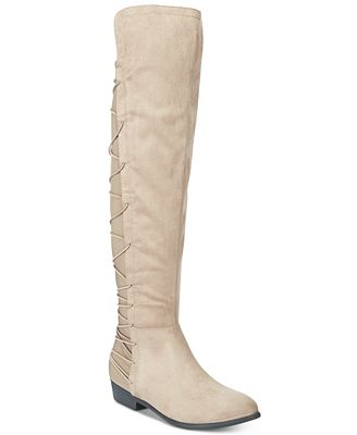 Material Girl Calyn Over-the-Knee Stretch Boots, Only at Macy's