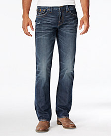 True Religion Men's Ricky Straight-Fit Block Jeans