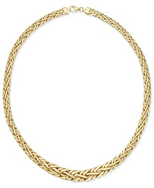 Polished Weave-Style Collar Necklace in 14k Gold