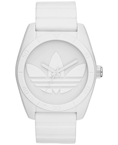 adidas Unisex Originals White Silicone Strap Watch 42mm ADH6166