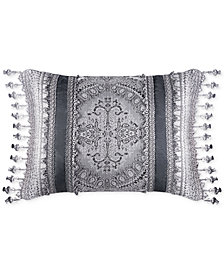 "J Queen New York Colette Silver 20"" x 15"" Decorative Pillow"
