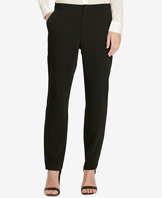 Lauren Ralph Lauren Suede Crepe Tuxedo Pants - Pants - Women - Macy's