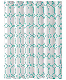 CLOSEOUT! Martha Stewart Collection Mirror Mirror Shower Curtain, Created for Macy's