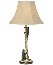 Pacific Coast Climbing Bears Table Lamp