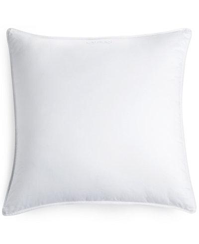 """CLOSEOUT! Lauren Ralph Lauren Down Alternative Micropuff® Cluster Fill 26"""" x 26"""" Gusset Euro Pillow, Certified Asthma and Allergy Friendly™"""