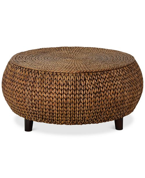Furniture Dawkins Low Round Accent Table Quick Ship Furniture - Super low coffee table