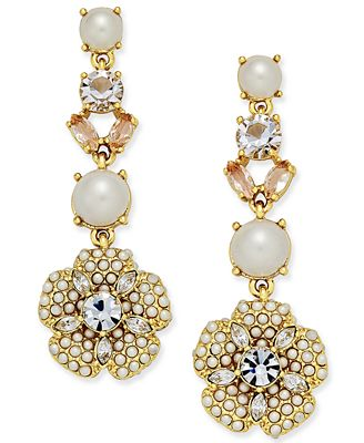 kate spade new york gold tone imitation pearl and
