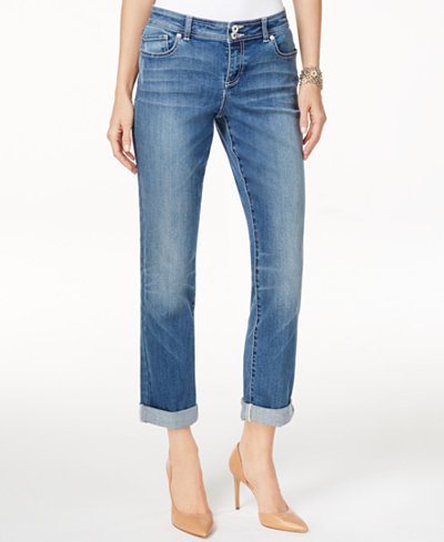 INC International Concepts Curvy Boyfriend Jeans, Only at Macy's