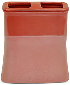 CLOSEOUT! Jessica Simpson Kensley Spice Coral Toothbrush Holder