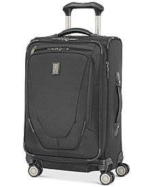 "Travelpro Crew 11 21"" Carry-On Expandable Spinner Suitcase with USB charging port"