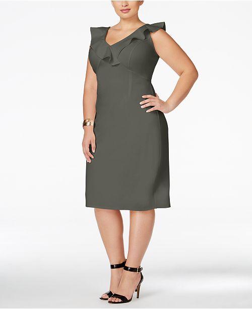 Love Squared Trendy Plus Size Ruffled Bodycon Dress Dresses Plus