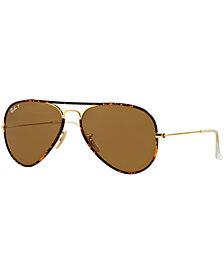 Ray-Ban Sunglasses, RB3025JM 58 AVIATOR FULL COLOR
