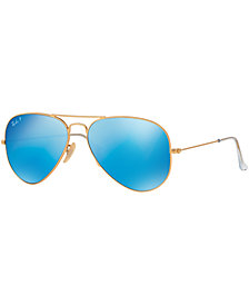 Ray-Ban Polarized Sunglasses, RB3025 AVIATOR MIRROR