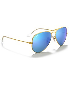 Ray-Ban Polarized Sunglasses , RB3025 AVIATOR MIRROR