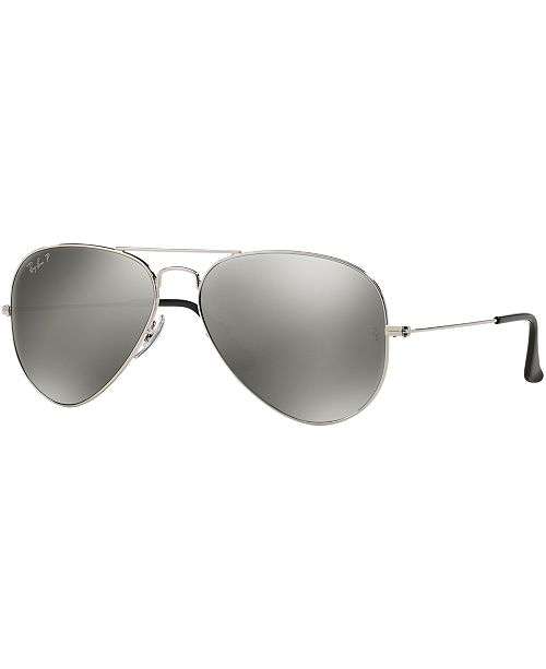 bc7ef212eb ... Ray-Ban Polarized Aviator Mirrored Sunglasses