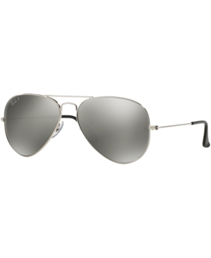 Ray-Ban Polarized Aviator Mirrored Sunglasses, RB3025 58