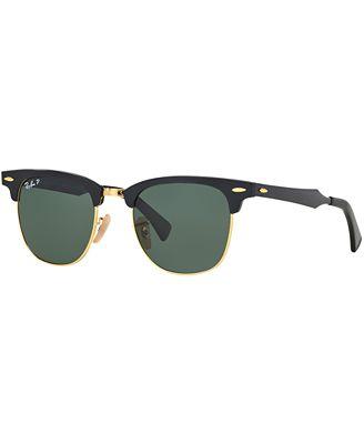 ray ban clubmaster aluminum okct  Ray-Ban Sunglasses, RB3507 51 CLUBMASTER ALUMINUM