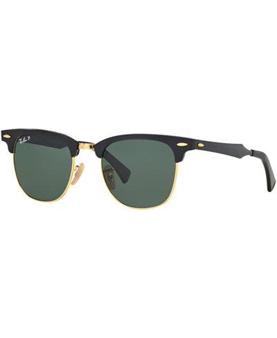Ray-Ban Polarized Sunglasses, RB3507 51 Clubmaster Aluminum