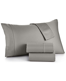 CLOSEOUT! Sorrento Solid 6-Pc. King Sheet Set, 500 Thread Count Cotton Blend