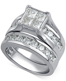 Diamond Channel-Set Bridal Set (3 ct. t.w.) in 14k White Gold
