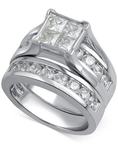 Diamond Channel-Set Bridal Set (3 ct. t.w.) in 14k White Gold